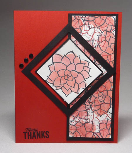 Nature's Perfection Square Frame Card in Black and Red