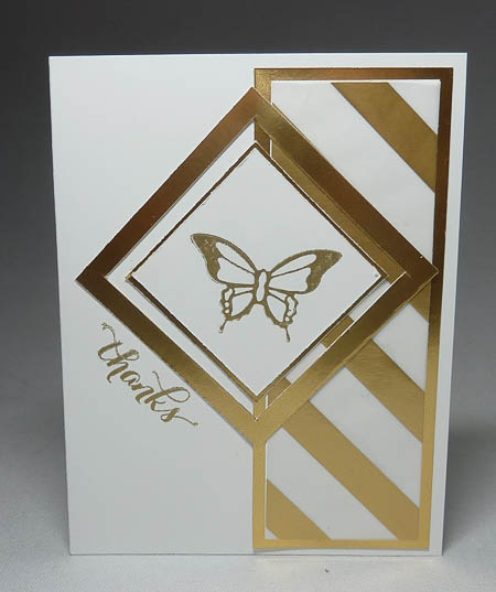 Nature's Perfection Square Frame Card in Gold