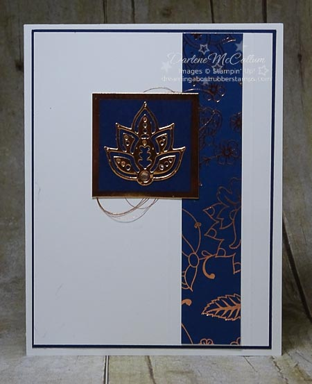Paisleys & Posies Navy Card Stampin Up