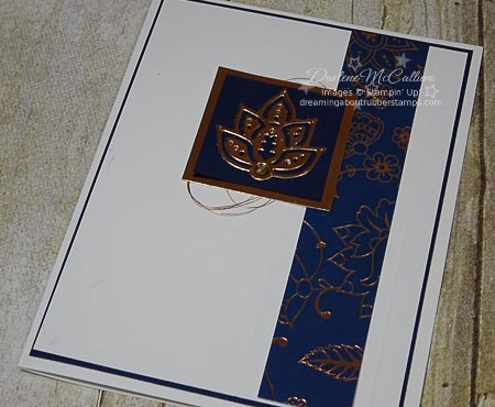 Stampin Up Paisleys & Posies Navy Card