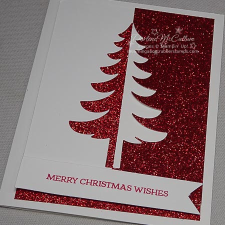 Stampin Up Santa's Sleigh Christmas Tree