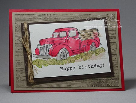 Country Livin' by Stampin Up Watercolor