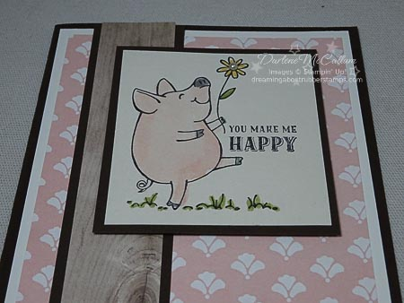 This Little Piggy Watercolor Card