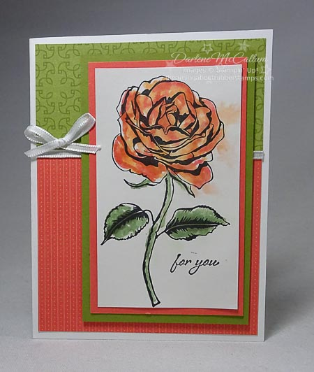 Graceful Garden stamps and Petal Garden paper