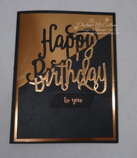 Happy Birthday Thinlits by Stampin Up