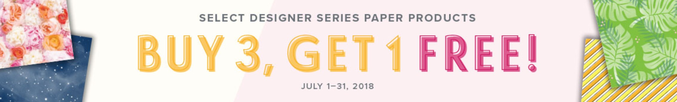 Designer Series Paper Buy 3, Get 1 Free