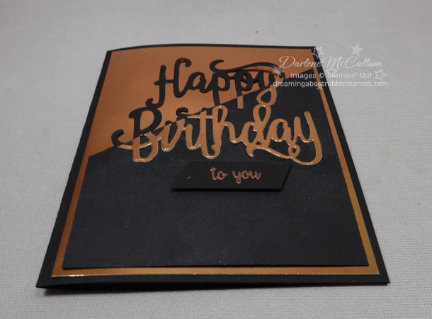 Stampin Up Happy Birthday Thinlits