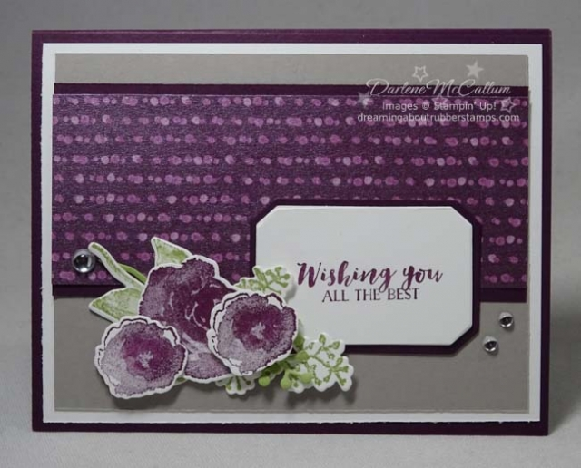 First Forst in Blackberry Bliss by Stampin Up