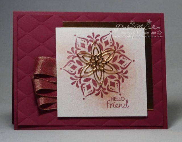 Happiness Surrounds and Snowfall Thinlits by Stampin Up