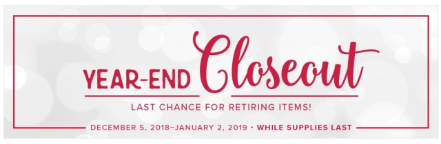 Year End Closeout from Stampin Up Canada