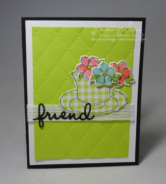 Tea Together and Tea Time Framelits from Stampin Up