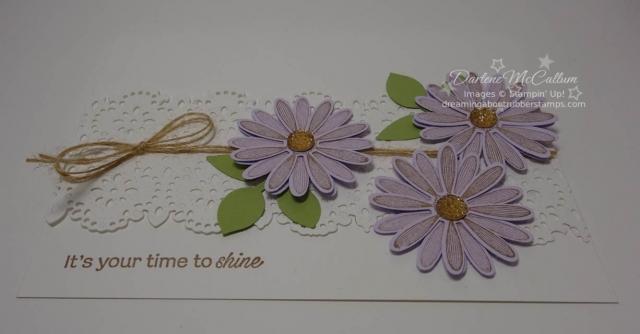 Daisy Lane Card in Purple Posy
