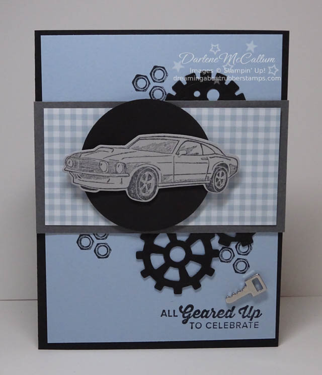Masculine Card with Geared Up Garage