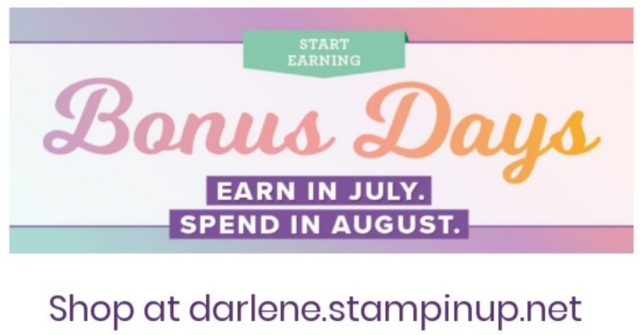 Bonus Days by Stampin Up