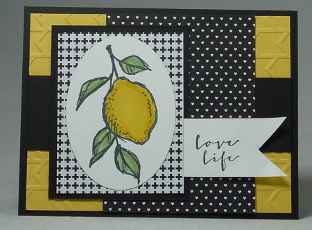 A Happy Thing Stamp Set Lemon Card
