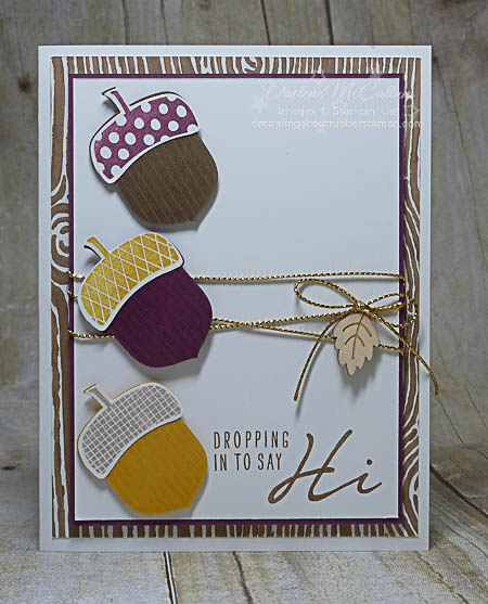 Stampin Up Canada Acorny Thank You Trio Card