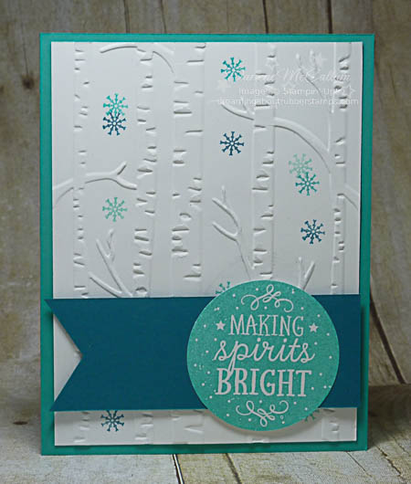 Among the Branches and Woodland Folder Snow Card