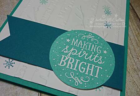 Among the Branches and Woodland Folder Snow Card Close