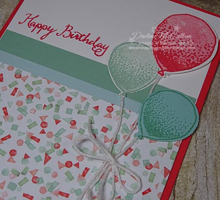 Stampin Up Balloon Celebration and Balloon Bouquet Punch