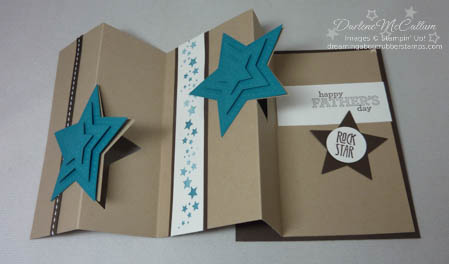 Be the Star Fancy Fold Card Open