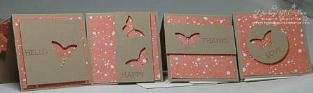 3x3 Mini Cards with Elegant Butterfly Punch and Pearls