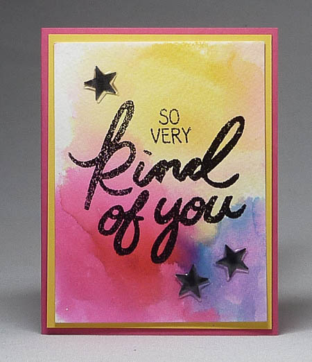 Big on You Watercolor Card
