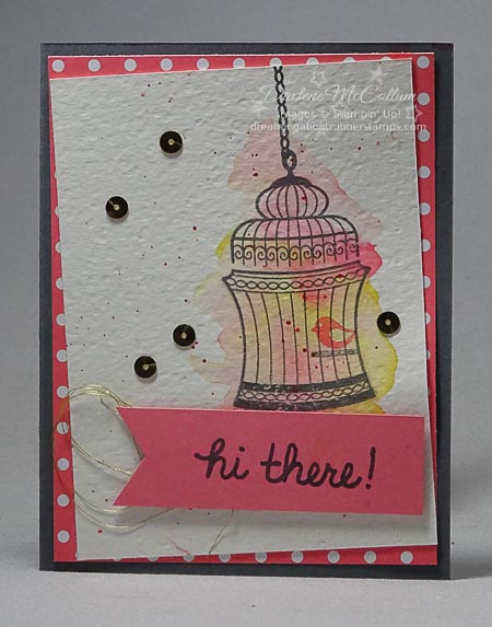 Builder Birdcage by Stampin Up