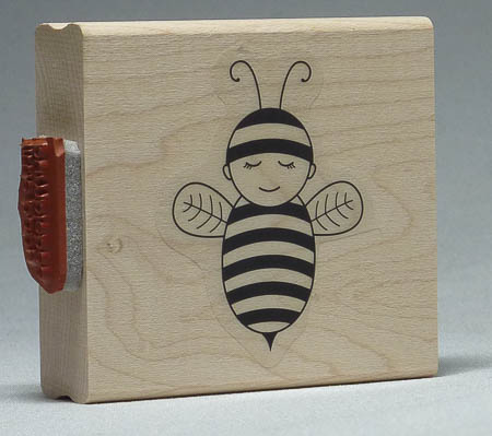 Baby Bumblebee Stamp with greeting on the side