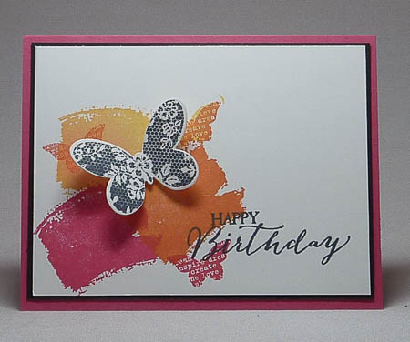 Butterfly Basics and Work of Art Collage Card