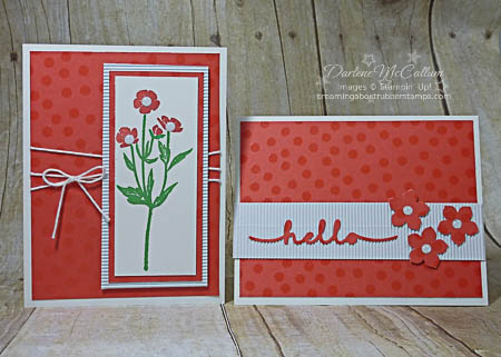 Stampin Up Color Me Irresistible Cards