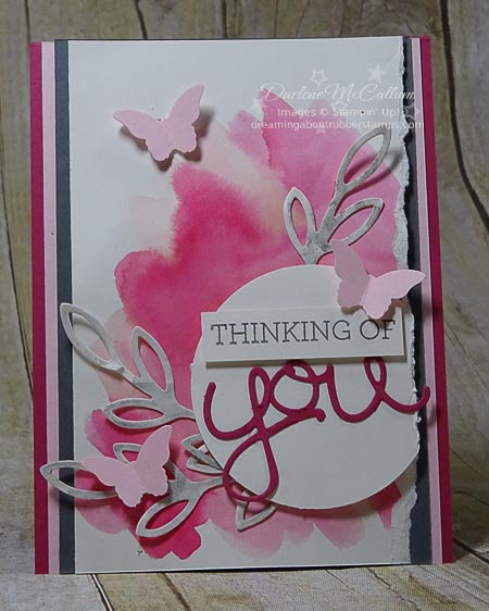Crazy About You Bundle Watercolor Wash Card