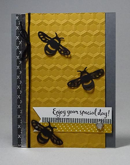 Detailed Dragonfly Bee Day Card