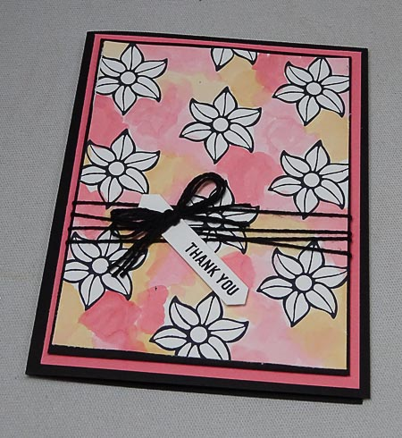 Stampin Up Falling Flowers Reverse Watercolor