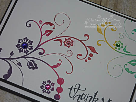 Flowering Flourishes Card Close