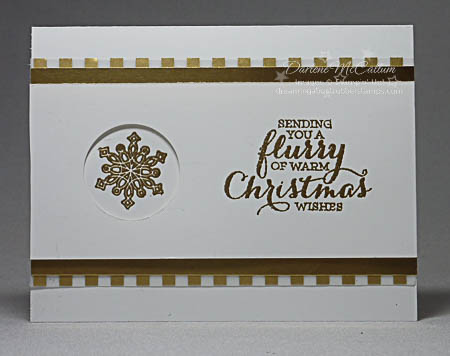 Stampin Up Flurry of Wishes Gold Circle Card