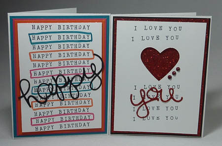 Alphabet Rotary Stamp with Hello You Thinlits Cards