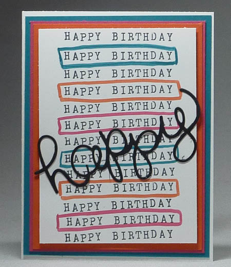 Alphabet Rotary Stamp with Hello You Thinlits Happy Card