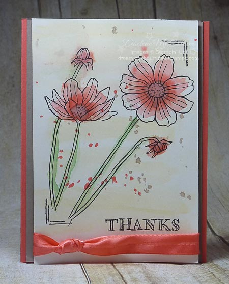 Stampin Up Helping Me Grow Watercolor Card