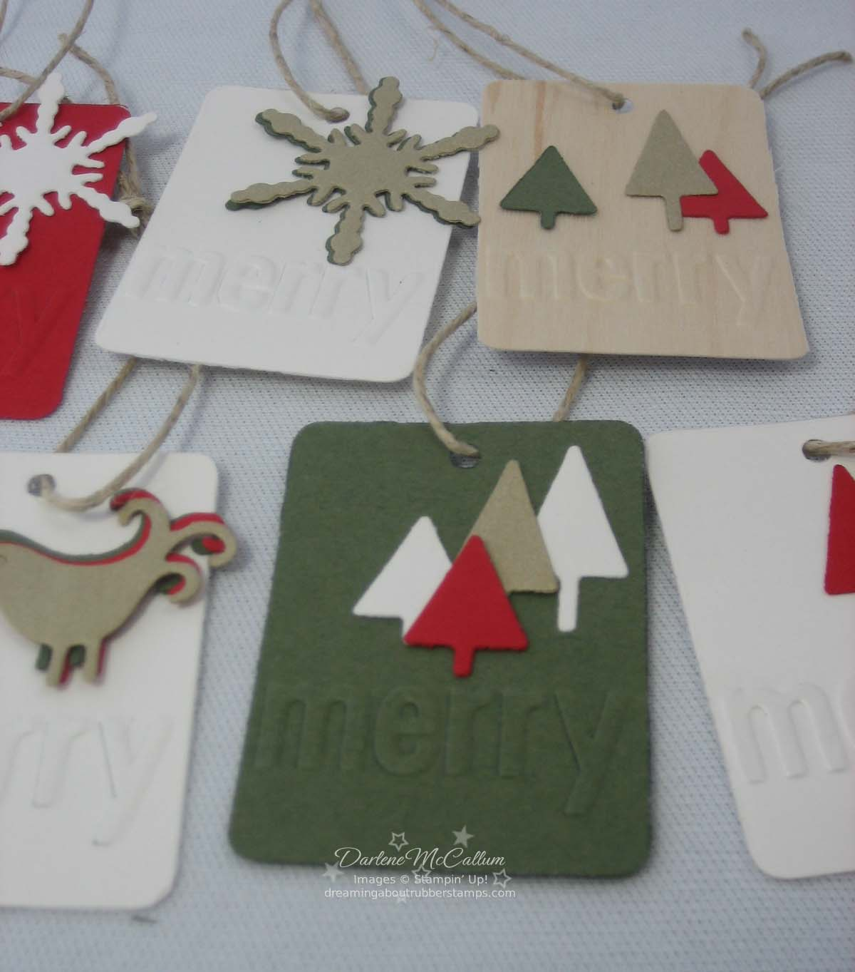 Stampin Up Merry Embosslit