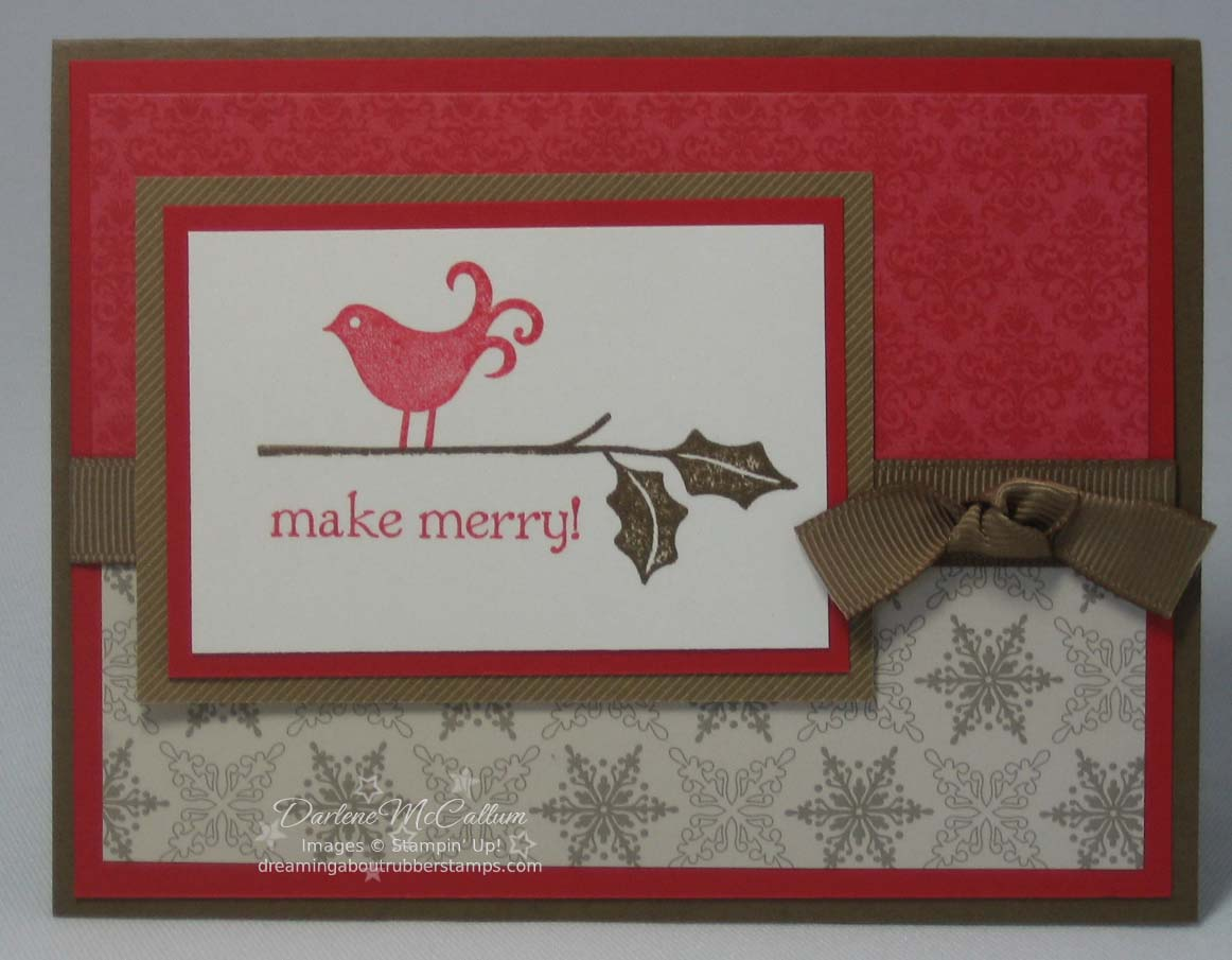Stampin Up Berry Christmas