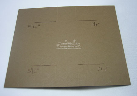 Stampin' up! Canada - Swing Card Step 2