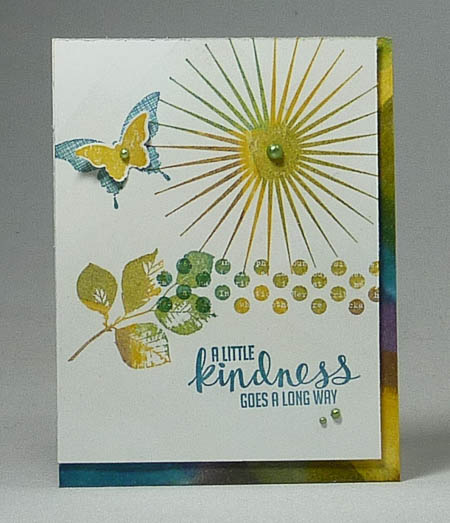 Kinda Eclectic Card with embossing