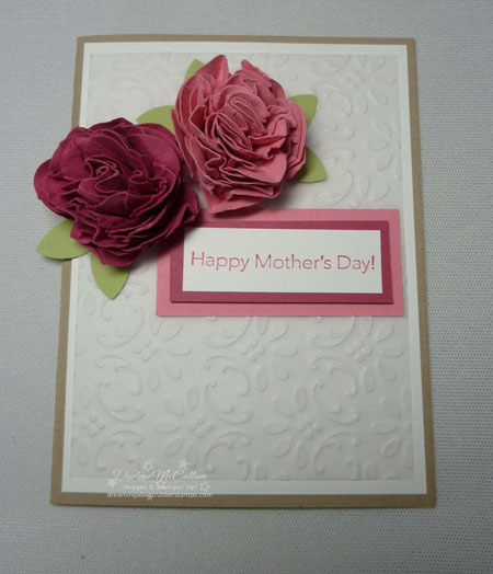 Paper flowers from punches stampin up canada mightylinksfo