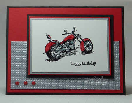 Stampin Up Mototrcycle
