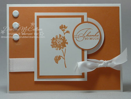 Stampin Up Watercolor Trio and Peach Parfait