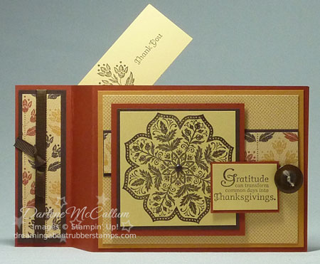 Stampin Up Days of Gratitude Wiper Card