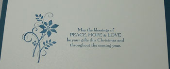 Gifts of Christmas Card Inside