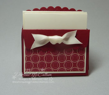 Stampin Up Canada Scallop Envelope with Gift Cards
