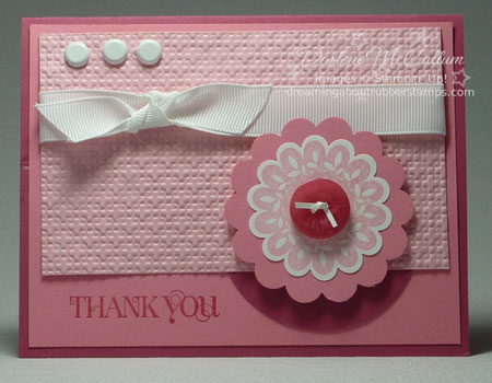 Stampin Up Canada Printed Petals Card