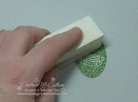 Sanding the Embossed Paper